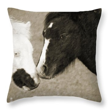 When We Touch Throw Pillow by Karol Livote
