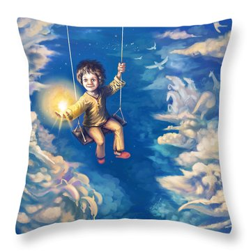 When We Were Kids Throw Pillow