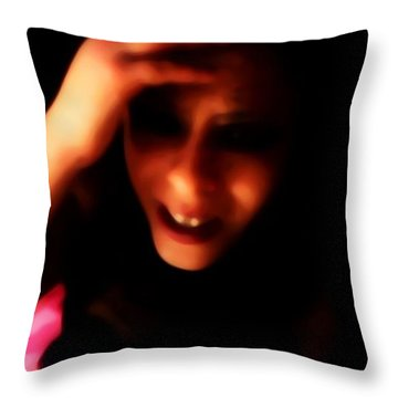 When Will It End? Throw Pillow by Jessica Shelton