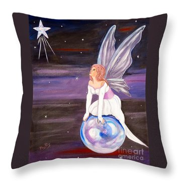 Throw Pillow featuring the painting When You Dream by Phyllis Kaltenbach