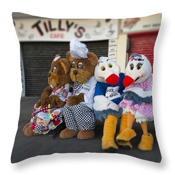When You Go Do To The Harbour 1 Throw Pillow by David  Hollingworth