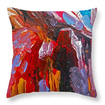 When You Least Expect Me Throw Pillow by Judith Redman