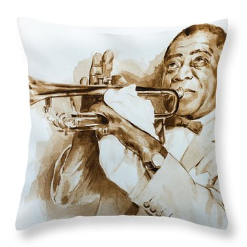 When You're Smilling Throw Pillow by Laur Iduc
