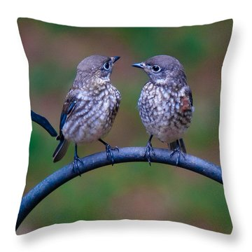 When's Dad Coming Back? Throw Pillow