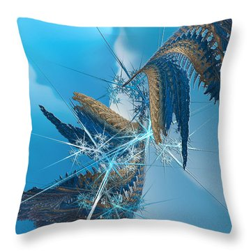 Where Angels Fell Throw Pillow by Camille Lopez