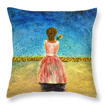 Where Angels Sleep Throw Pillow