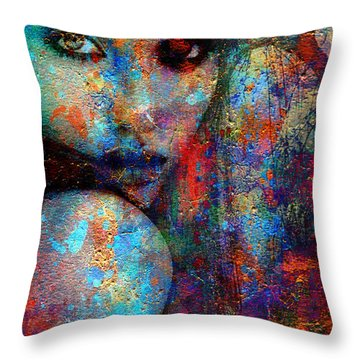 Where Are You Throw Pillow by Greg Sharpe