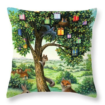 Where Birthday Presents Come From Throw Pillow