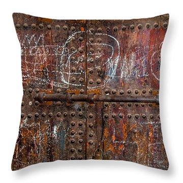 Marrakech Door Throw Pillow