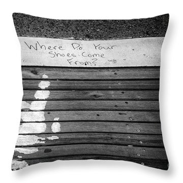 Where Do They Come From? Throw Pillow by John Farnan
