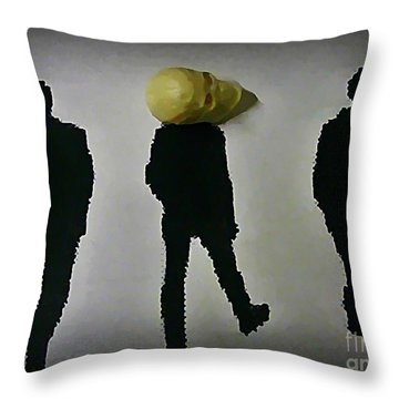 Where Do You Think Your Going Throw Pillow by John Malone