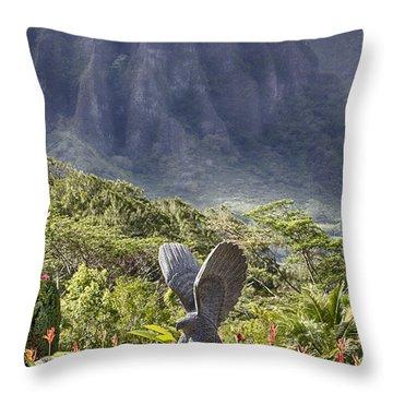 Where Eagles Fly Throw Pillow by Douglas Barnard