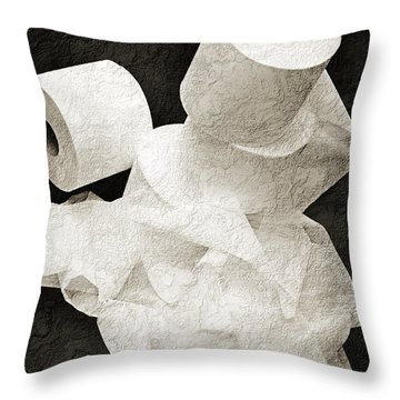 Where Is My Spare Roll Bw V1 Throw Pillow by Andee Design
