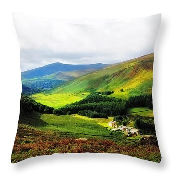 Where Is Soul Flying. Wicklow Mountains. Ireland Throw Pillow by Jenny Rainbow