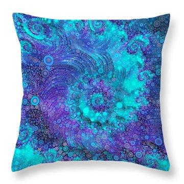 Where Mermaids Play Throw Pillow