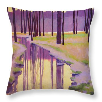 Where Nymphs Play Throw Pillow by Mary McInnis