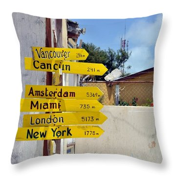 Where Should I Go Next Throw Pillow