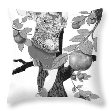 Throw Pillow featuring the digital art Where The Best Apples Are by Carol Jacobs