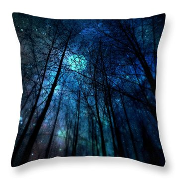 Where The Faeries Meet Throw Pillow