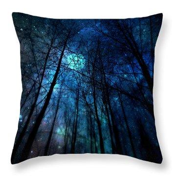 Where The Faeries Meet Throw Pillow by Micki Findlay