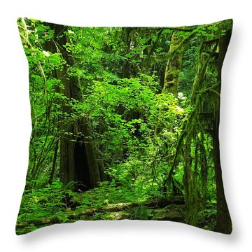 Where The Forest People Live Revised Throw Pillow