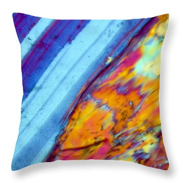 Where The Lava Meets The Ocean Throw Pillow by Tom Phillips