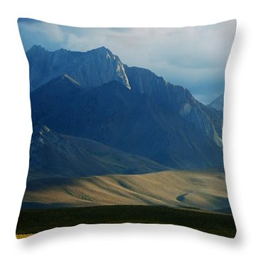 Where The West Commences Throw Pillow