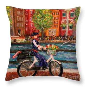 Where To ... Amsterdam Throw Pillow