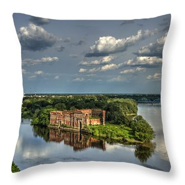 Throw Pillow featuring the photograph Where Two Rivers Meet by Julis Simo