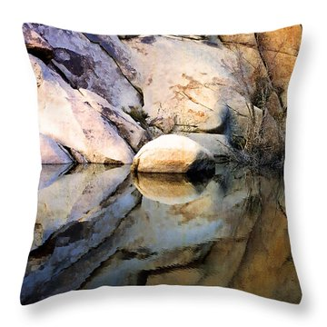 Throw Pillow featuring the photograph Where We Meet by Kathy Bassett