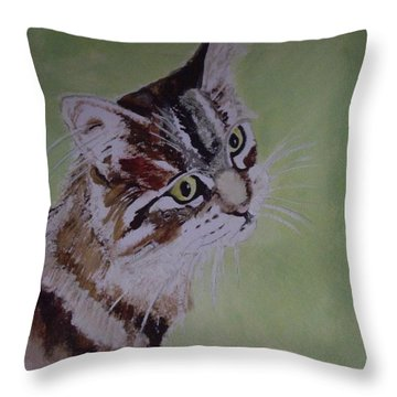 Where's My Dinner? Throw Pillow by Carole Robins
