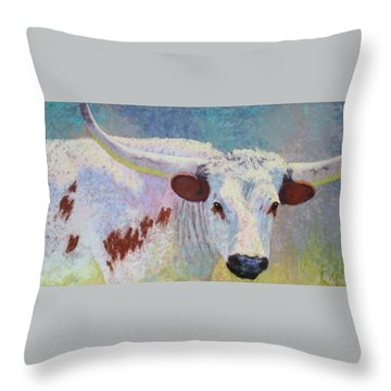 Where's Texas Throw Pillow by Nancy Jolley