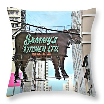Where's The Beef Throw Pillow by Ethna Gillespie