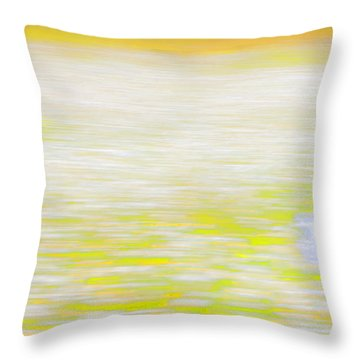 Wherever She Ran Throw Pillow by Theresa Tahara
