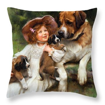 Which May I Keep Throw Pillow by Arthur John Elsley
