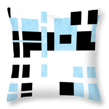 Which Way Is Up Painterly Abstract Throw Pillow by Andee Design