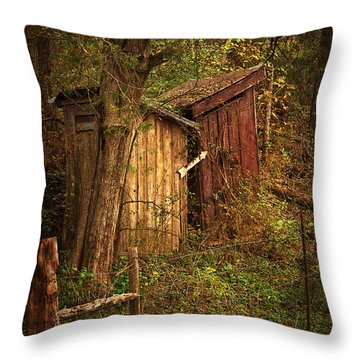 Which Way To The Outhouse? Throw Pillow