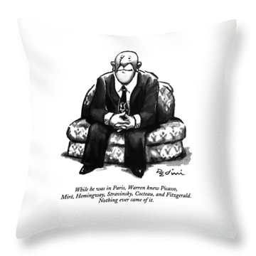 While He Was In Paris Throw Pillow