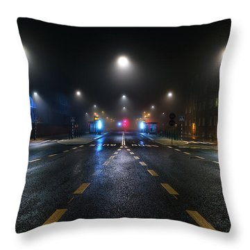 While The City Sleeps Throw Pillow