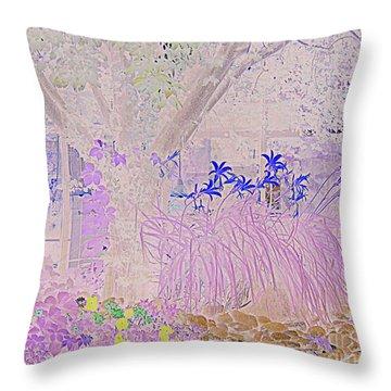 Whimsical Garden Throw Pillow by Bobbee Rickard