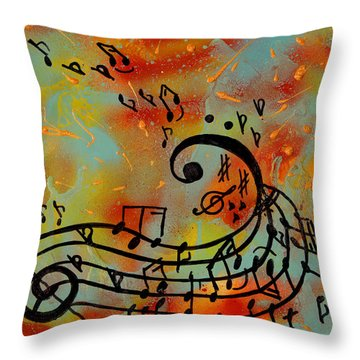 Whimsical Melody Throw Pillow