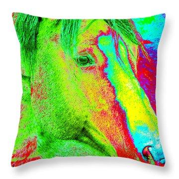 Up Close And Electrified Throw Pillow