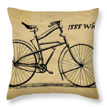 Whippet Bicycle Throw Pillow