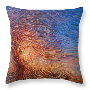 Whirl Tree Throw Pillow