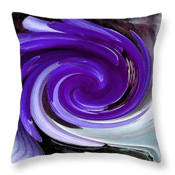 Whirlaway - Blue Throw Pillow