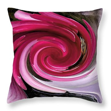 Whirlaway - Magenta Throw Pillow