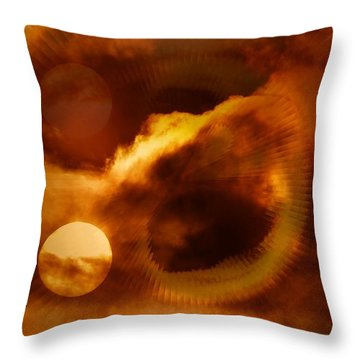 Whirling In The Clouds Throw Pillow by Jeff Swan