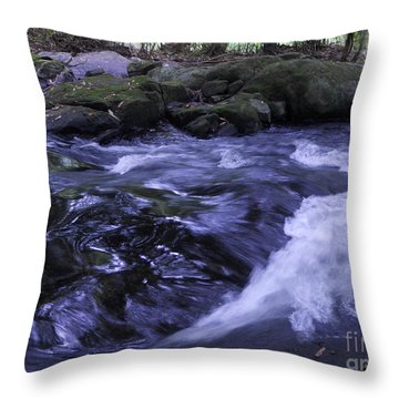 Whirls Throw Pillow by Mini Arora