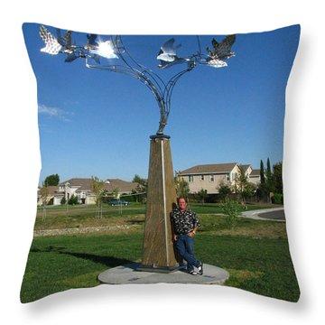 Whirlybird Throw Pillow by Peter Piatt