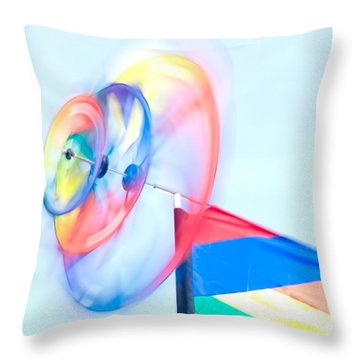 Whirligig 2 Throw Pillow